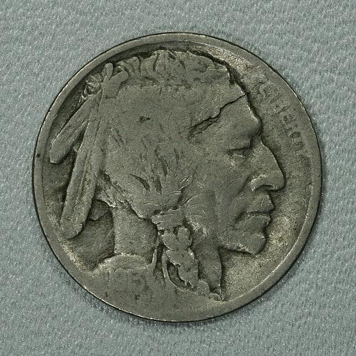 1913-S Type 1 G-VG Buffalo Nickel, popular early San Fran issue on mound