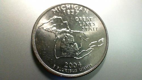 2004 D Michigan 50 States and Territories Quarters