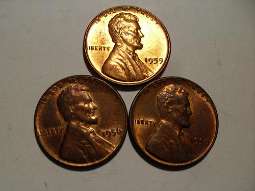 Lot of 3 nice lincoln cents
