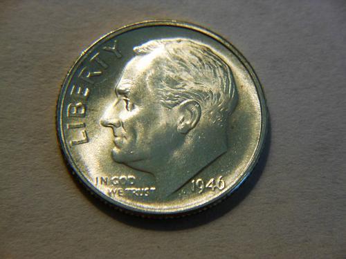 1946-D Silver Roosevelt Dime