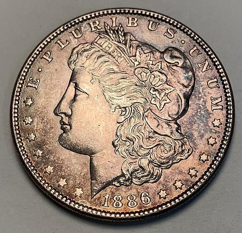 1886 Morgan Silver Dollar UNC [MDL 270]