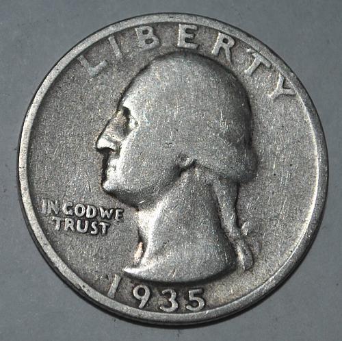 1935 P Washington Quarter