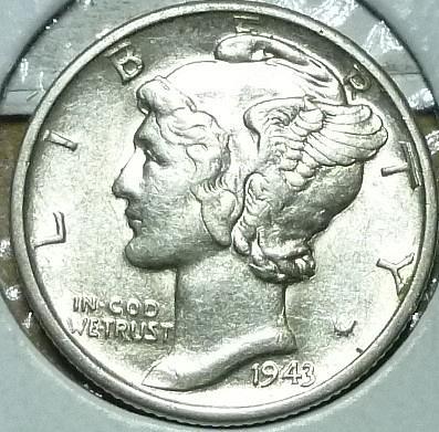 1943 D  Uncirculated Mercury Dime   BU ( 869)