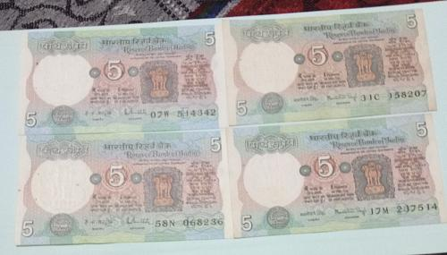 2  Different sign circulated India 4 notes