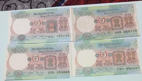 India circulated India 4 notes