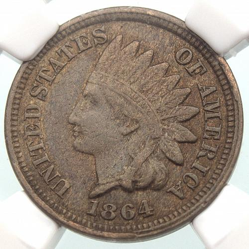 1864 Indian Head Cent #10 NGC XF40