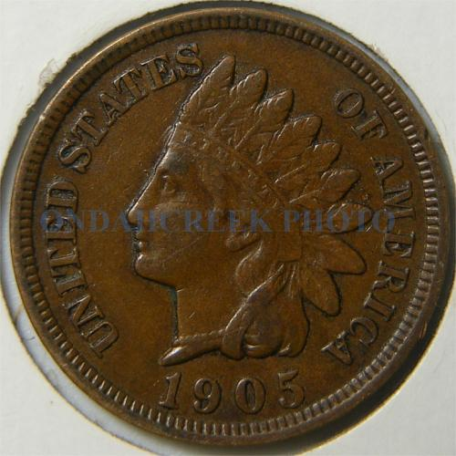 1905 Indian Head Cent Clashed Die