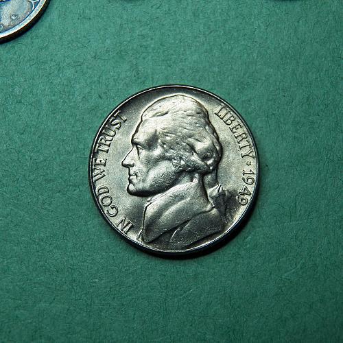 1949 P Jefferson Nickel BU Coin   u68