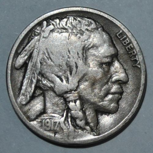 1917 P Buffalo Nickel