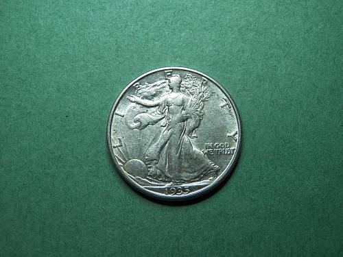 1935 D Walking Liberty Half Dollar    u70