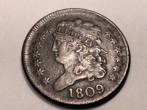 1809 half cent ,gorgeous details, high grade