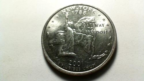 2001 D New York 50 States and Territories Quarters