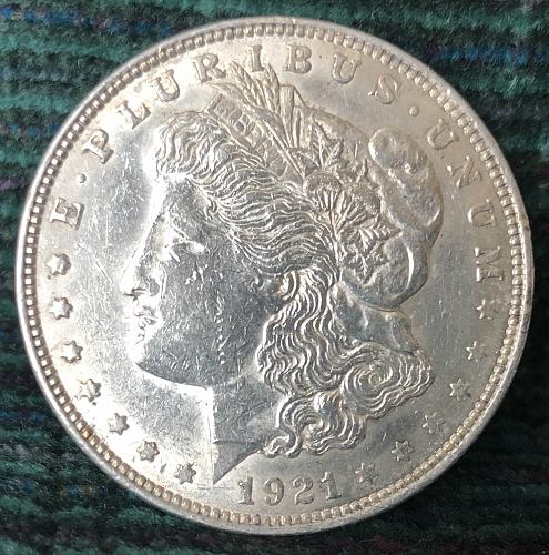 For sale a 1921 Philadelphia Morgan silver Dollar