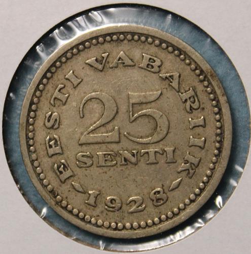 Estonia 1928 25 senti