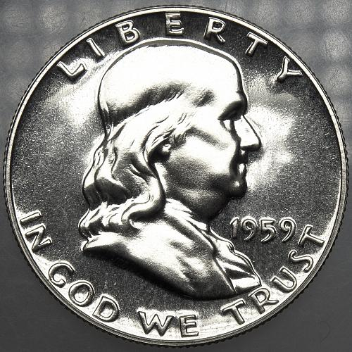 1959 P Franklin Half Dollar #6 PROOF