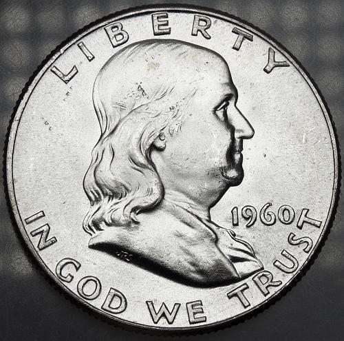 1960 P Franklin Half Dollar#6 MS63