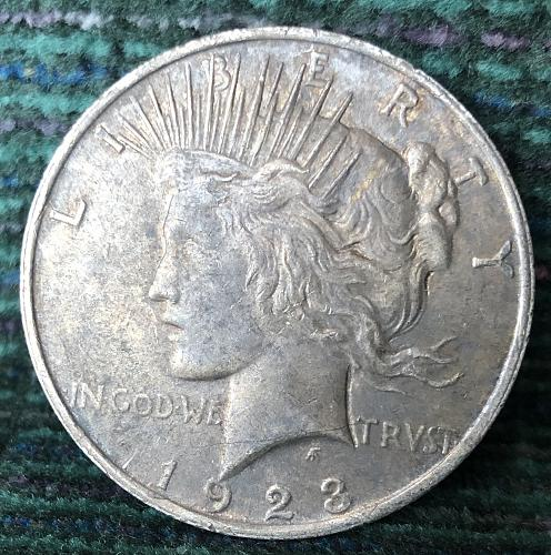 For sale a 1923 Philadelphia Peace silver Dollar