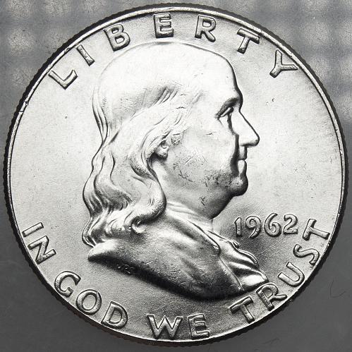 1962 P Franklin Half Dollar #7 MS64