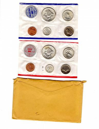 1961 P & D UNCIRCULATED MINT SET