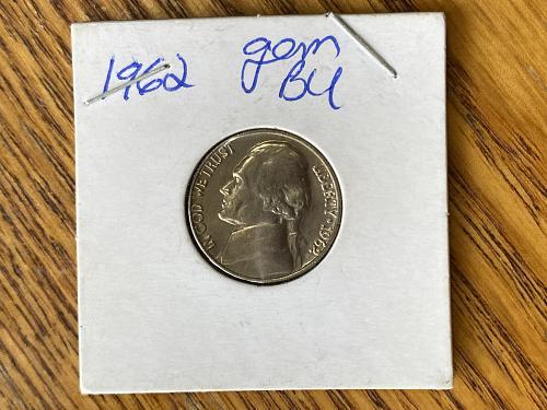 1962 P Nickel - Gem B/U