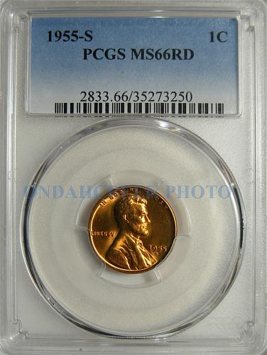 1955-S Lincoln Cent Doubled Die DDO 001 PCGS MS-66 Red