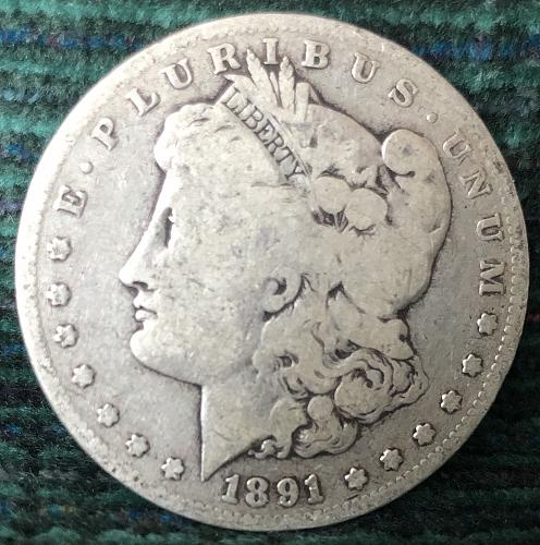 For sale a 1891 San Francisco Morgan silver Dollar