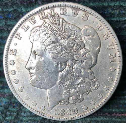 For sale a 1890 Philadelphia Morgan silver Dollar