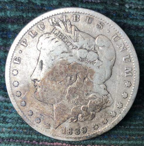 For sale a 1889 New Orleans Morgan silver Dollar