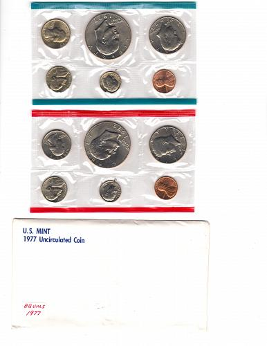 1977 PD UNCIRCULATED MINT SET