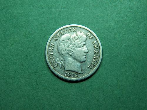 1916 S Barber Dime Very Fine Coin   u82