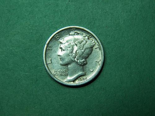 1924 P Mercury Dime Extra Fine Coin   u83