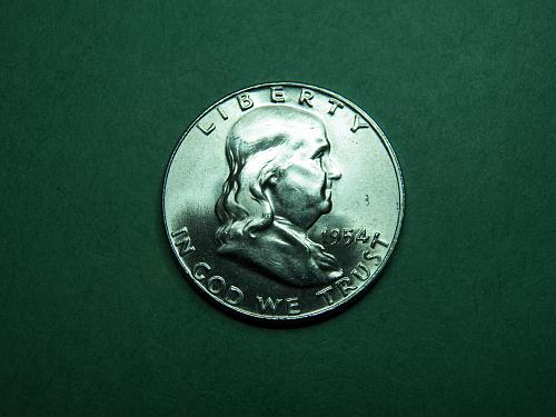 1954 D Franklin Half Dollar BU Coin   u75