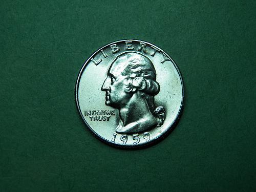 1959 P Washington Quarter Brilliant Uncirculated Coin   u79