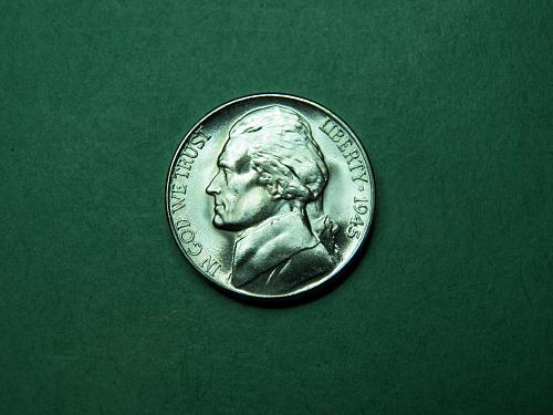 1945 D Jefferson Nickel Gem BU Coin   u88