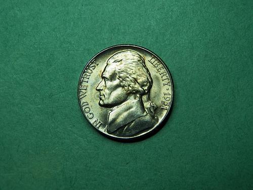 1951 D Jefferson Nickel Brilliant Uncirculated Coin   u94