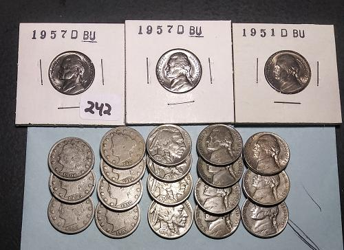 LOT OF 21 NICKELS - INCLUDES 1883 N/C AND SILVER WAR NICKELS