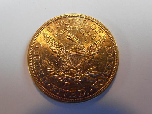 1907 D Gold $5 Liberty Half Eagle AU58 (07D302)