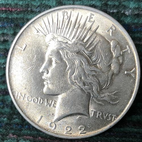 For sale a nice 1922 Philadelphia Peace silver Dollar