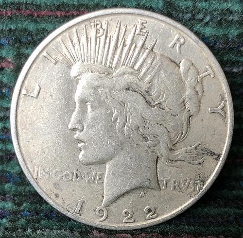 For sale a 1922 Denver Peace silver Dollar