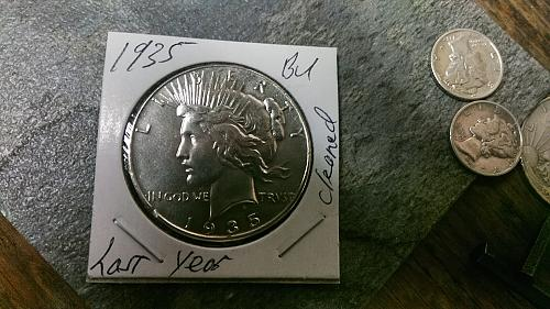 1935 Peace Silver Dollar Great Detail  Last Year Cleaned