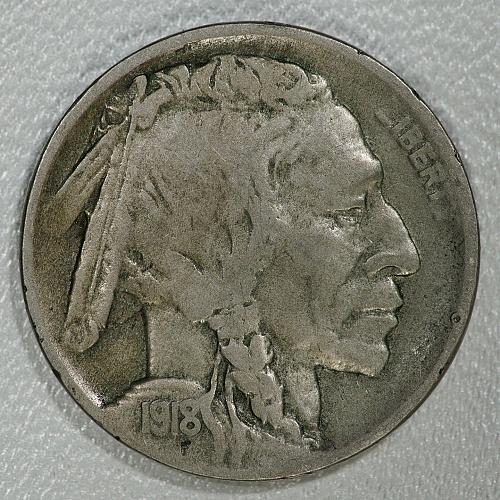 1918-D Fine Buffalo Nickel, scarcer date with a lot of meat on its bones