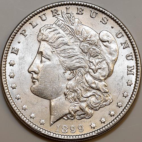 1899 P Morgan Silver Dollar - Gem BU / MS / UNC