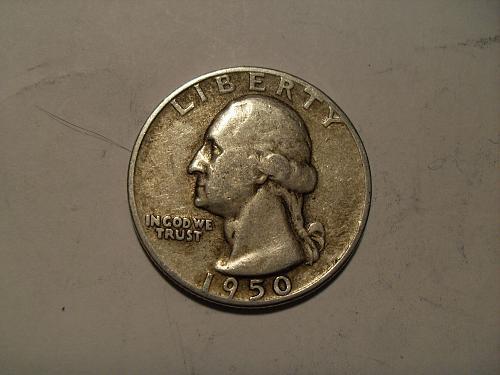 1950-p Washington quarter