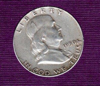1950 P Franklin Half Dollars - #3