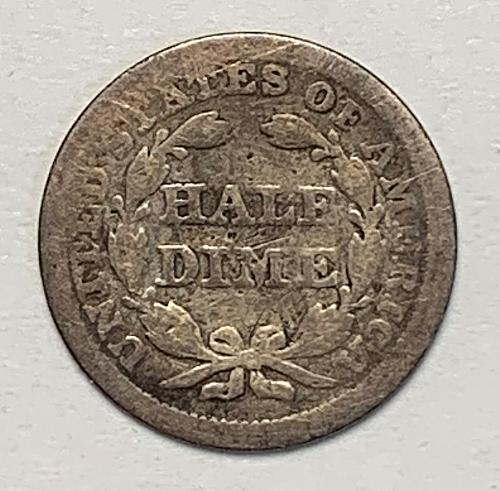 1853 Seated Liberty Half Dime [SHD 8]