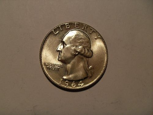 1964-D Washington silver quarter #2