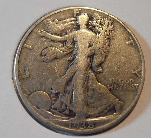 1938 P Walking Liberty Silver Half Dollar  (38PAC3)