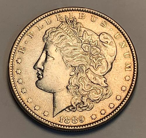 1889 Morgan Silver Dollar AU [MDL 291]