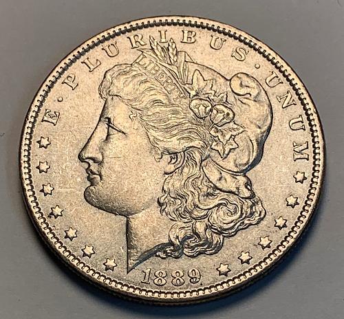 1889 Morgan Silver Dollar AU [MDL 306]