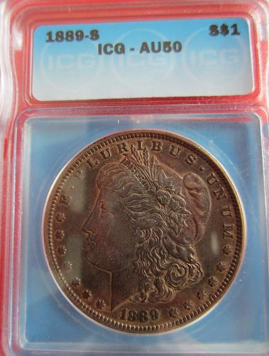 1889-S Morgan Dollar Certified AU50